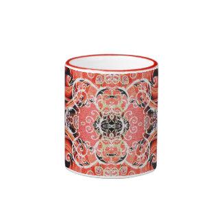 Coral cor-de-rosa de Bollywood Caneca Com Contorno