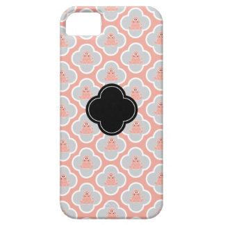 Coral e capas de iphone florais cinzentas do capa barely there para iPhone 5