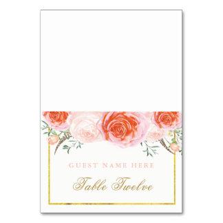 Coral romântico e cartões cor-de-rosa da escolta