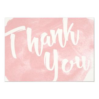 Coram os cartões de agradecimentos cor-de-rosa da convite 12.7 x 17.78cm