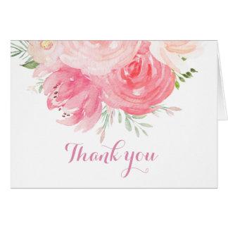 coram os cartões de agradecimentos florais