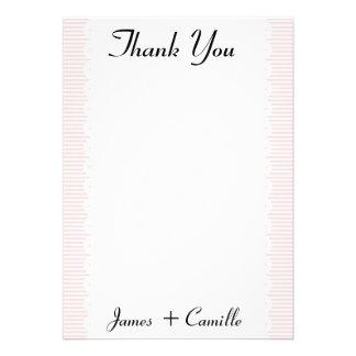 Coram os cartões de agradecimentos Scalloped rosa/ Convites