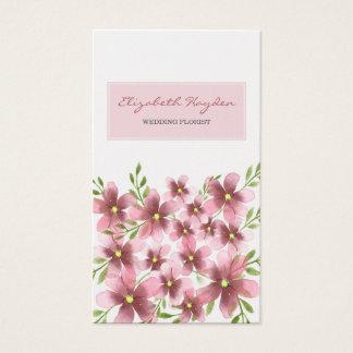 Cartão De Visitas Coram os cartões de visitas florais