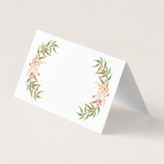 Coram os cartões florais do lugar do casamento das