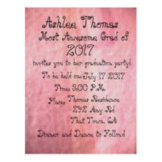 Coram os convites feitos sob encomenda cor-de-rosa