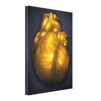 Corazón De Oro - coração das canvas 18x24 do ouro Impressão Em Canvas