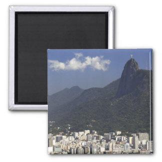 Corcovado que negligencia Rio de Janeiro, Brasil Imã De Geladeira