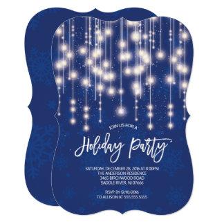 Corda à moda do convite claro da festa natalícia