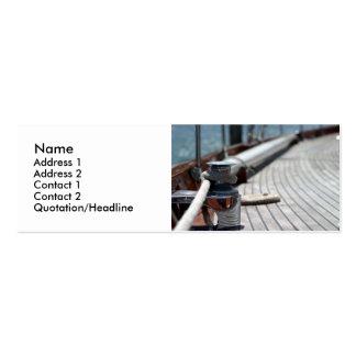 corda de barco da vela cartões de visita