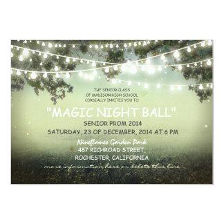corda de convites rústicos da noite de baile de convite 12.7 x 17.78cm