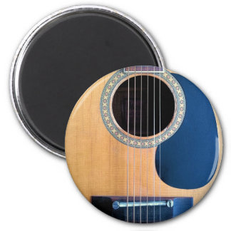 Corda de Dreadnought 6 da guitarra acústica Ímã Redondo 5.08cm