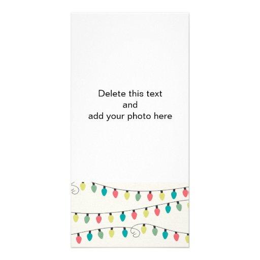 Corda do Natal do teste padrão das luzes Cartoes Com Fotos