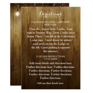 Corda rústica das luzes que Wedding o cartão dos