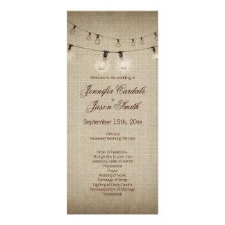 Corda rústica do país das luzes que Wedding 10.16 X 22.86cm Panfleto