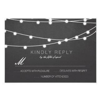 Corda simples das luzes que Wedding RSVP | que Convite Personalizado