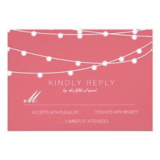 Corda simples das luzes que Wedding RSVP | que Convites Personalizados