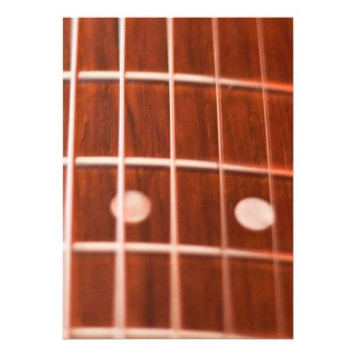 Cordas da guitarra convites personalizados