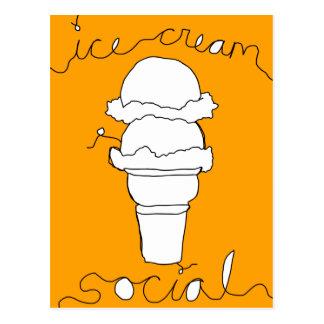 cordas do social do sorvete cartão postal