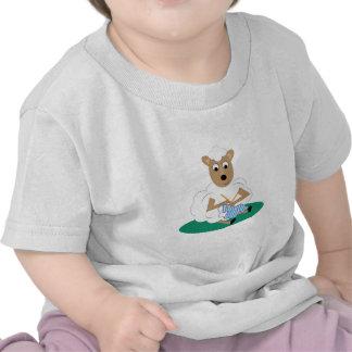 Cordeiro de confecção de malhas camisetas