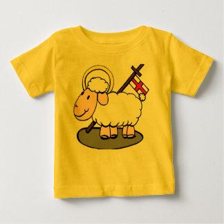Cordeiro do t-shirt da criança do deus camiseta para bebê
