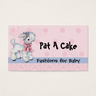 Cordeiro infantil e de crianças do desgaste do cartão de visitas