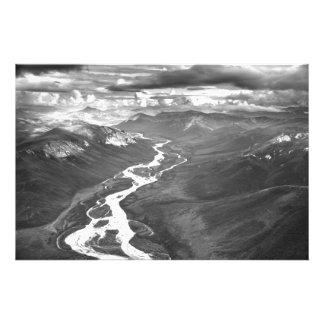 Cordilheira dos ribeiros, Alaska ártico Impressão De Foto