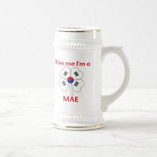 Coreanos personalizados beijam-me que eu sou Mae Caneca