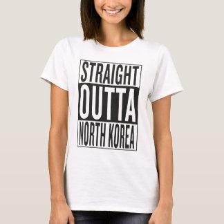 Coreia do Norte reta do outta Camiseta