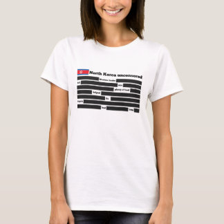 Coreia do Norte uncensored T-shirts