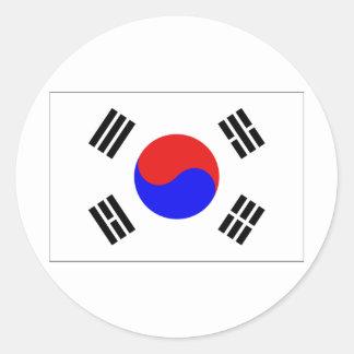 Coreia do Sul Adesivos Em Formato Redondos
