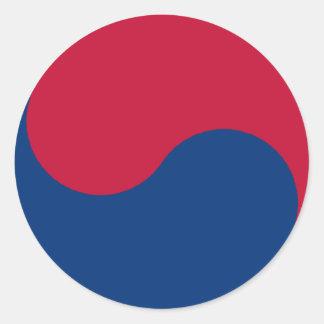 Coreia do Sul/bandeira coreana Adesivo