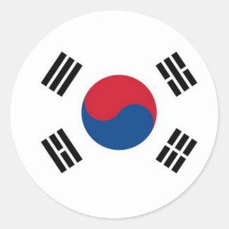 Coreia do Sul redonda (não para o uso externo) Adesivo