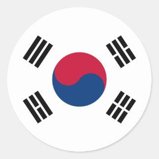 Coreia sul adesivo em formato redondo
