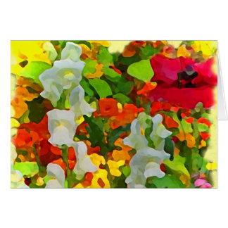 Cores alegres do jardim cartão