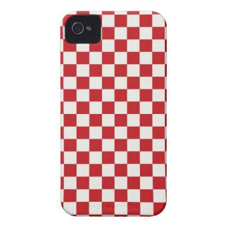 Cores Checkered vermelhas e brancas do CHURRASCO Capinha iPhone 4