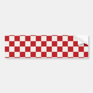 Cores Checkered vermelhas e brancas do CHURRASCO d Adesivo Para Carro