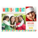 Cores corajosas alegres e brilhantes do cartão com convite personalizado