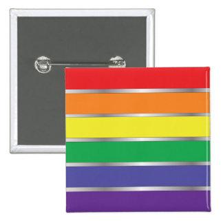 Cores da bandeira do arco-íris do orgulho gay pins