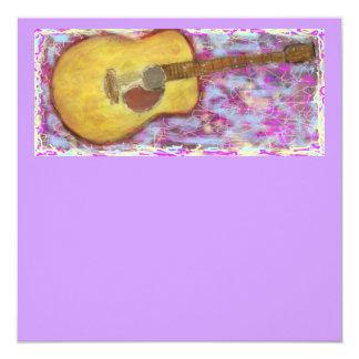 Cores da guitarra acústica convite personalizados