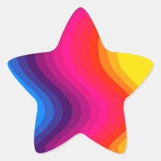 Cores da onda - etiqueta da estrela adesito estrela