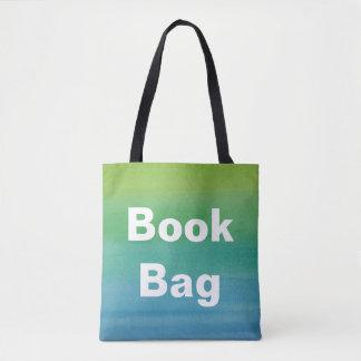 Cores da sereia do saco de livro do impressão da bolsas tote