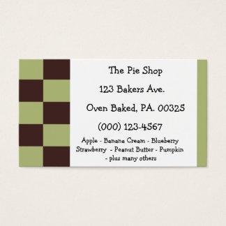 Cores da torta da hortelã do chocolate cartão de visitas