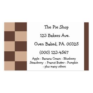 Cores da torta da musse de chocolate cartão de visita
