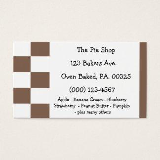 Cores da torta do chocolate cartão de visitas