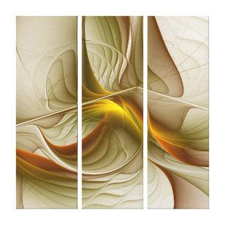 Cores de metais preciosos, arte abstrata do impressão em tela