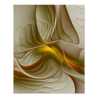 Cores de metais preciosos, arte abstrata do poster