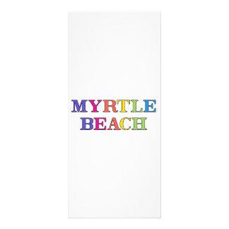 Cores de Myrtle Beach 10.16 X 22.86cm Panfleto
