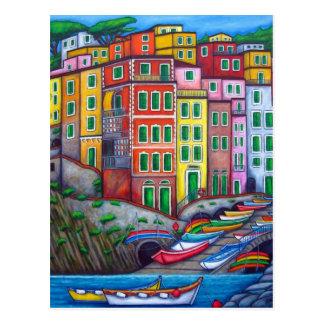 Cores de Riomaggiore, cartão de Cinque Terre