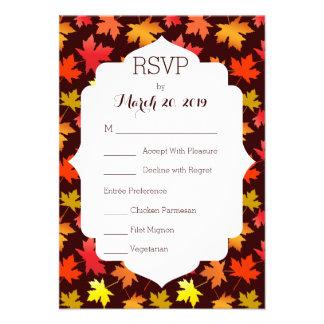 Cores de RSVP do casamento do outono Convite Personalizados