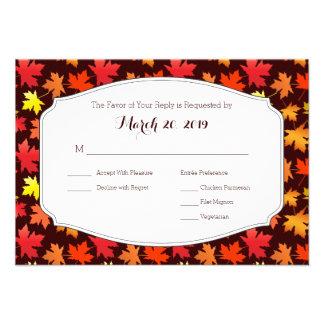 Cores de RSVP do casamento do outono Convites Personalizado